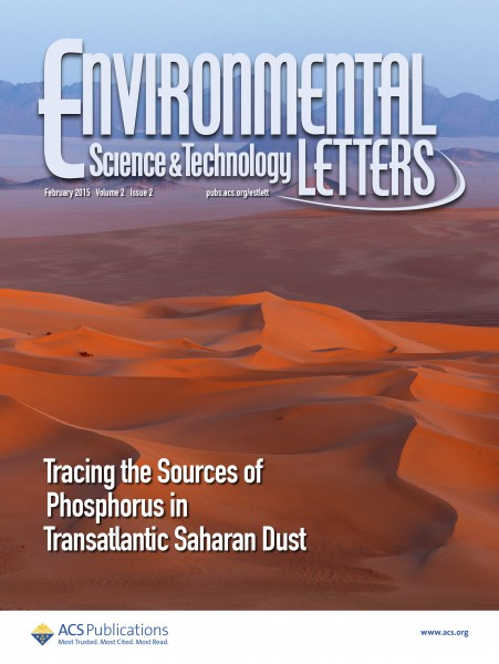 CESAM paper in the cover of ES&T Letters