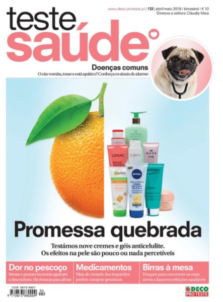 "Report on Research developed at CESAM in the ""Teste Saúde"" magazine (DECO Supplement)"