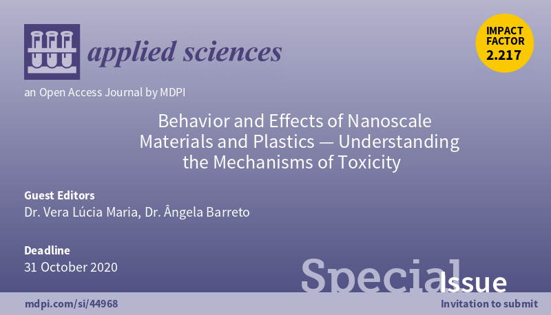 A Special Issue in the Journal Applied Sciences: