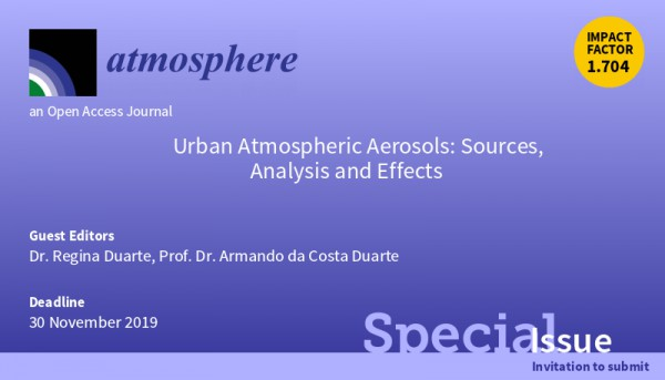 CESAM members are guest editors of Atmosphere